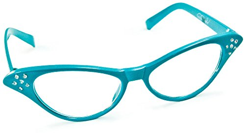Hip Hop 50S Shop Cateye Glasses Child/Youth - Teal