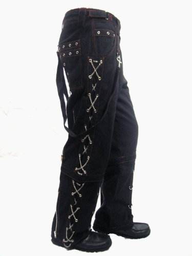Men's Black Bondage Trousers Pants (Size 32-W32