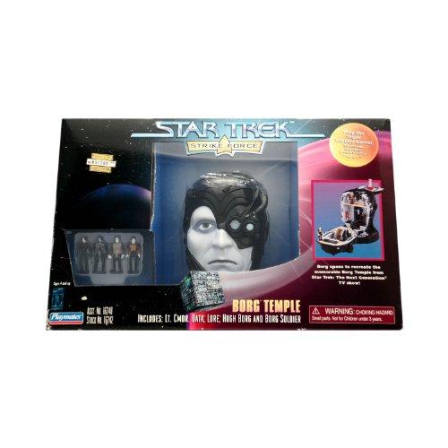 Borg Temple Playset - Star Trek Strike Force Includes Lt. Cmdr. Data, Lore, Hugh Borg and Borg Soldier - 1