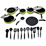 Apricoat Premium Quality 2.5mm Thickness 11 Pcs Non-stick Cookware Set With 11pc Serving Spoon Set Free - B01HWA3G10