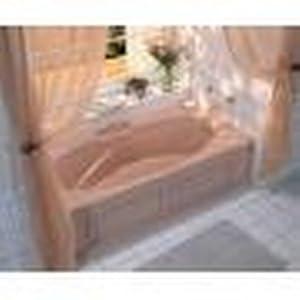 Jacuzzi H530959 Nova 536 Bath with Integral Skirt, White
