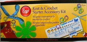 Knit and Crochet Starter Accessory Kit 43 Pcs. Boye
