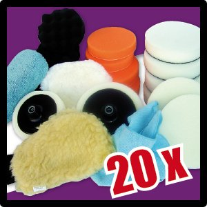 20 Piece Polishing Pad Set for polishing machines