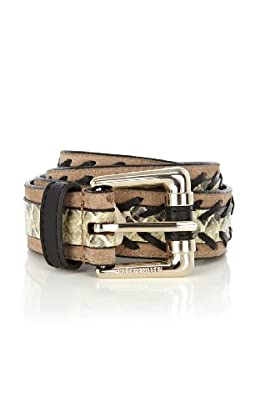 Snake and Suede Belt