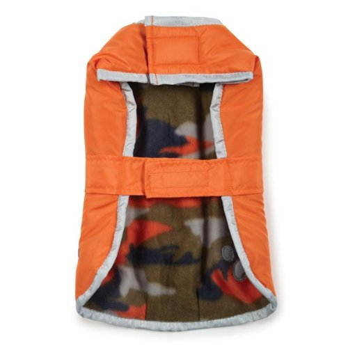 Zack & Zoey Polyester Nor'easter Dog Blanket Coat, Large, Orange