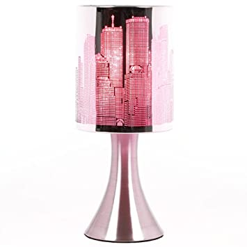 Rose 3 intensit/és lumineuses Lampe New York Tactile sans interrupteur