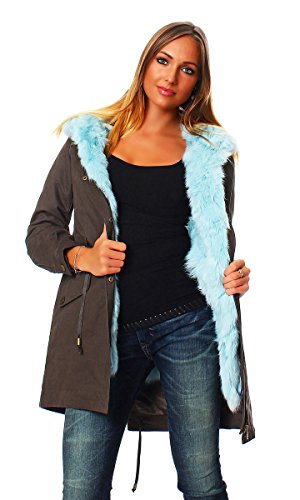 Parka Bianca Light Blue On Parle De Vous donna