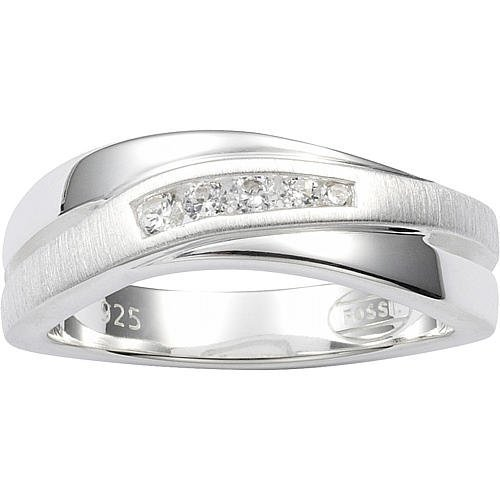 FOSSIL Damen Silber Ring 925 Sterling Silber JF12766040