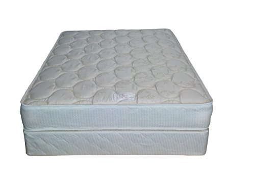 Comfort Bedding Gentle Firm 9-Inch Innerspring Mattress With Low Profile 5-Inch Box Spring, Full, Beige