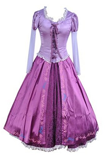 YUKICHI Rapunzel Style Classic Dress Costume 【 for Adult 】Halloween Tangled style (L) (Tangled Rapunzel Dress)