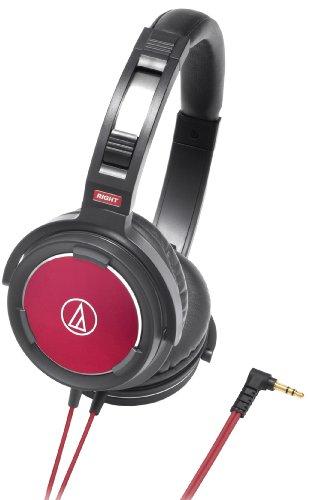 audio-technica ポータブルヘッドホン ブラックレッド ATH-WS55 BRD