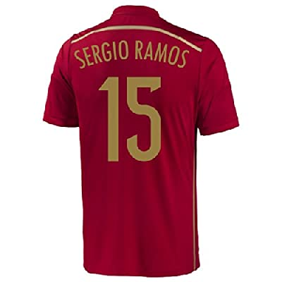 Adidas Sergio Ramos #15 Spain Home Jersey World Cup 2014 (M)