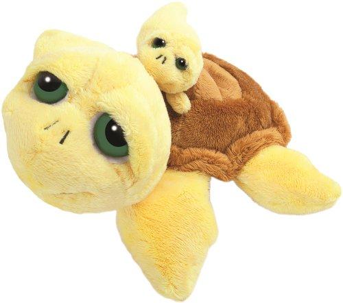 lil-peepers-14004-suki-pluschtier-schildkrote-pebbles-mit-baby-292-cm-gelb