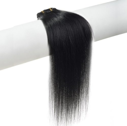 15″ 18″ 20″ 22″ Remy (Remi) Human Hair Straight Clip in Extensions All Colors for Your Choose 7 Pieces(pcs) [Set Weight:70-80 Grams] (20″, #1 Jet Black)