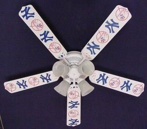 Ceiling Fan Designers 52FAN-MLB-NYY MLB York Yankees Baseball Ceiling Fan 52 In. at Amazon.com