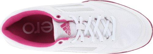 Adidas Women's Adizero Sport II Golf Shoe,Running White/Metallic Silver/Bahia Magenta,7 M US