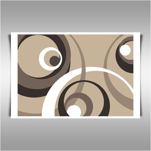 COFFEE RINGS FRAMED A2 CANVAS ART PRINT