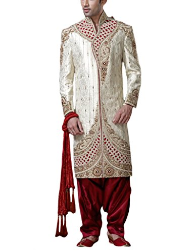 Readiprint Men Silk  Banarasi Sherwani