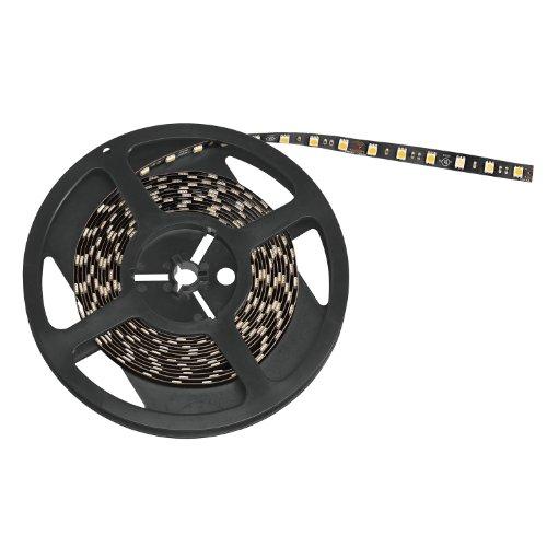 Kichler Lighting 1100H30Bk Task Work Led 3000K High Output Indoor Dry Tape Light, 100-Feet, 24-Volt, Black Tape With White Led