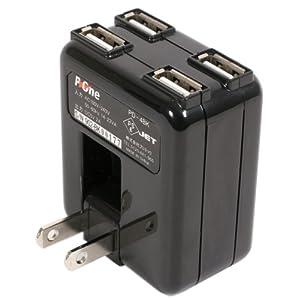 プロテック P-4WAY USB ACアダプター