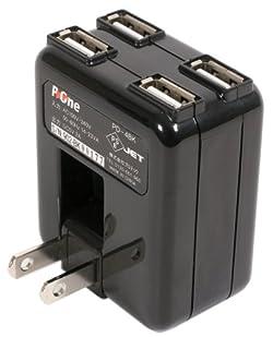 プロテック P-4WAY USB4基搭載ACアダプター