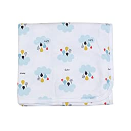 Dalpong candy fluff Swaddle blanket Baby nursery-receiving Blue