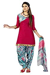 SR Women's Cotton Unstitched Dress Material