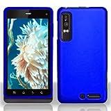 Blue Rubberized Hard Plastic Case for Motorola Droid 3 XT862