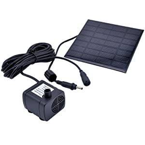 victsing solar panel wasserpumpe f r garten brunnen teich pflanzen tauch bew sserung kit. Black Bedroom Furniture Sets. Home Design Ideas