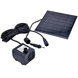 victsing solar panel wasserpumpe f r computer zubeh r. Black Bedroom Furniture Sets. Home Design Ideas