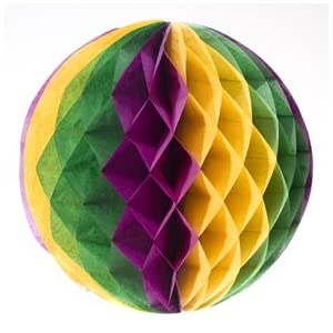 Click to buy Mardi Gras Art Tissue Ballfrom Amazon!