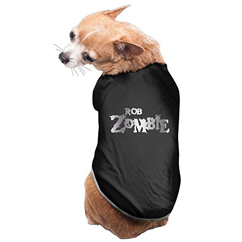 [Black Rob Zombie Logo Platinum Style Pet Dog T-shirt Coat] (House Of A Thousand Corpses Baby Costume)