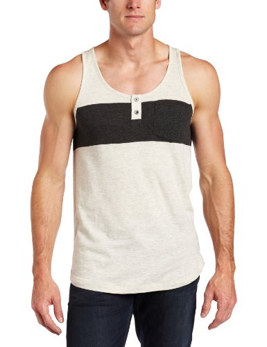 Ezekiel Men's EZ Stripe Tank, Bone, Medium