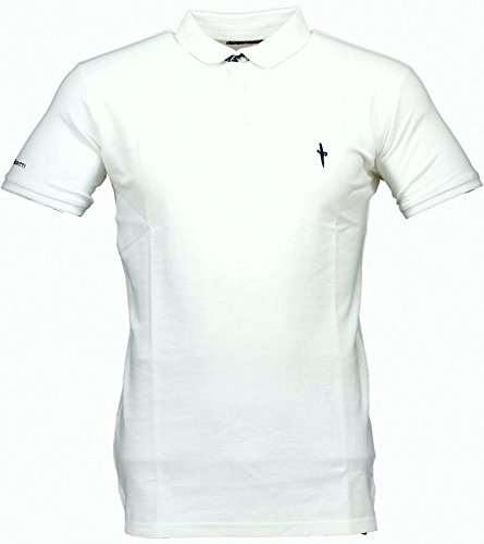 Polo T-shirt Maniche Corte Uomo Cesare Paciotti Men Short Sleeves CP11PS#1-Bianco-L