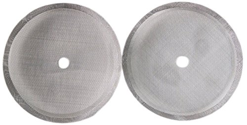 French Press Coffee Maker Universal 4,6, or 8 Cup Filter Screen (2 Pack) Replaces Bent and Worn French Press Mesh Screens (Screen For French Press compare prices)