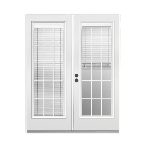 Exterior Doors Reliabilt 6 39 Blinds And Grids Between The Glass Steel French Patio Door 289766