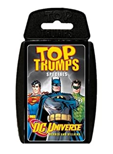 TOP TRUMPS DC UNIVERSE HEROES AND VILLAINS FAVOURITE TRAVEL GAME