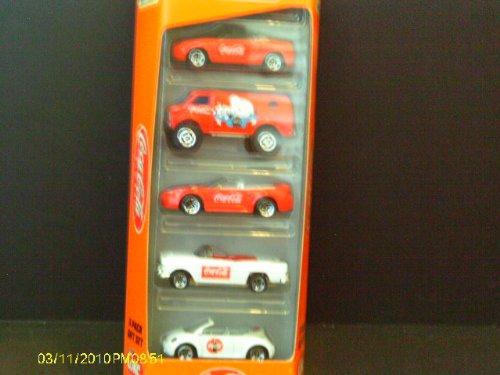 Coca Cola 5 Pack Gift Set Mattel Wheels - 1