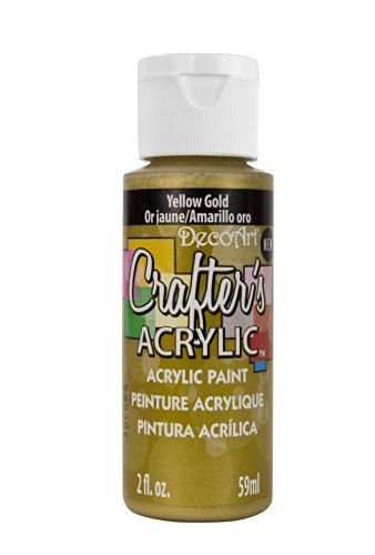 DecoArt Crafter's Acrylic Paint, 2-Ounce, Yellow Gold (Yellow Gold Paint compare prices)