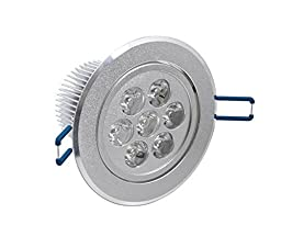 Revesun 12PCS 7W Led Ceiling Light Downlight Warm White Recessed Led Down-warm white