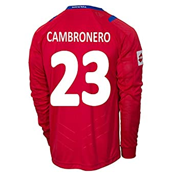 Buy Lotto CAMBRONERO #23 Costa Rica Home Jersey World Cup 2014 (Long Sleeve) by Lotto