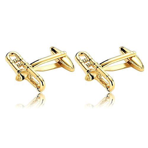 amdxd-jewelry-stainless-steel-men-cufflinks-gold-trumpet-jazz-music-cuff-links