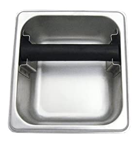 "Update International KB-166 Stainless Steel Espresso Knock Box - 6"" Deep from Update International"