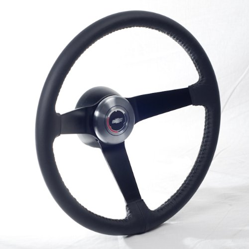 1969 1970 1971 1972 Camaro, Chevelle, Impala, Nova, Pick up Truck Steering Wheel, with Hub Adapter, Chevy tri color bow tie horn cap and horn kit (Steering Wheel Chevy Truck compare prices)
