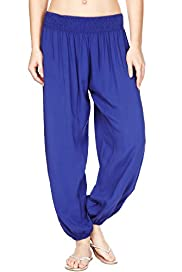 Smocked Waistband Harem Trousers