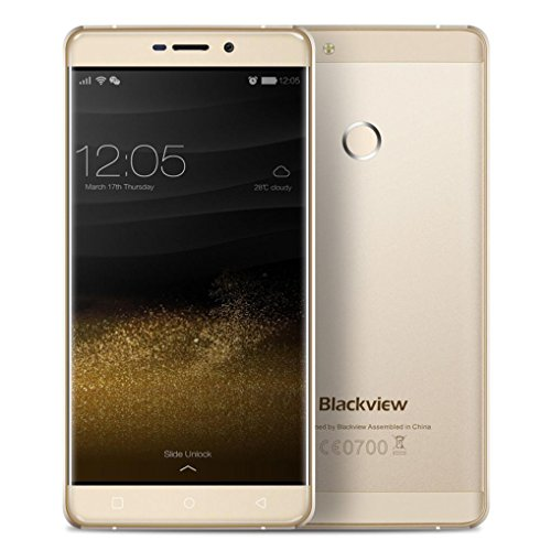 Neues Smartphone, Blackview R7, 5,5 Zoll MT6755 8 Core 2,0 GHz RAM 4GB + ROM32GB, Android 6.0-Smartphone(Gold)