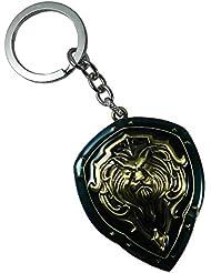 Techpro Metal Keychain With World Of Warcraft Shield Alliance Fight Design