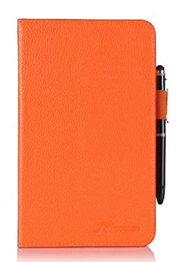 Kindle Fire HD 7 Tablet (2014) Case, roocase Kindle Fire HD 7 Dual View Folio Case Cover with Multi-Viewing Stand for All- 2014 Fire HD 7 Tablet (4th Generation), Orange