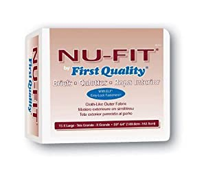 "Nu-Fit by First Quality Brief X Large (59""-64"") Case of 60 by First Quality"