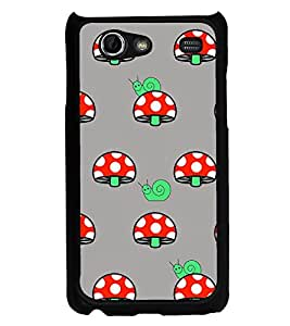 Snail and Mushroom 2D Hard Polycarbonate Designer Back Case Cover for Samsung I9070 Galaxy S Advance :: Samsung Galaxy S II Lite